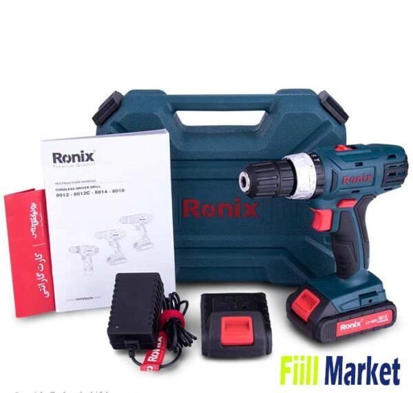 دریل پیچ گوشتی شارژی رونیکس 18 ولت مدل 8018
