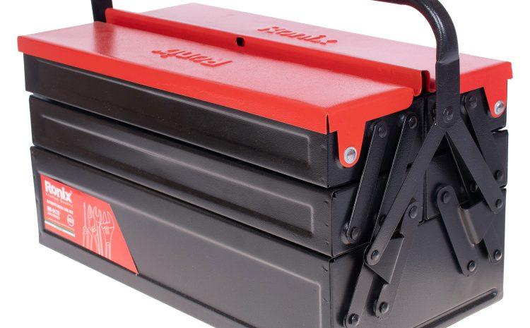 جعبه ابزار فلزی اتوماتیک 40 سانت 3 طبقه مدل RH-9173